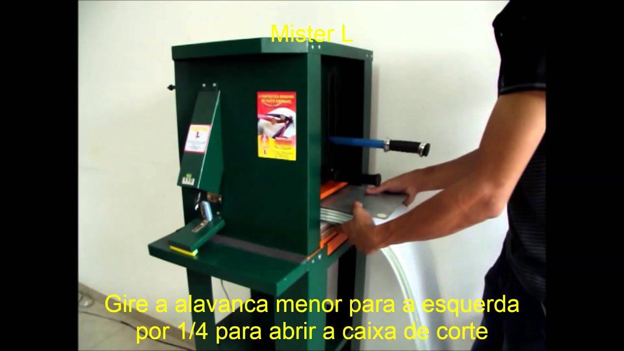 1130fa9aa Maquina de fabricar chinelos super corte Mister L - YouTube