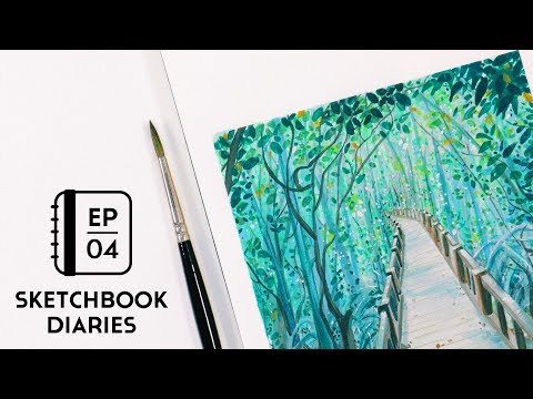 Patience in Art ⏳✨ My Experience + Tips | Gouache Landscape Study | Sketchbook Diaries Ep. 4