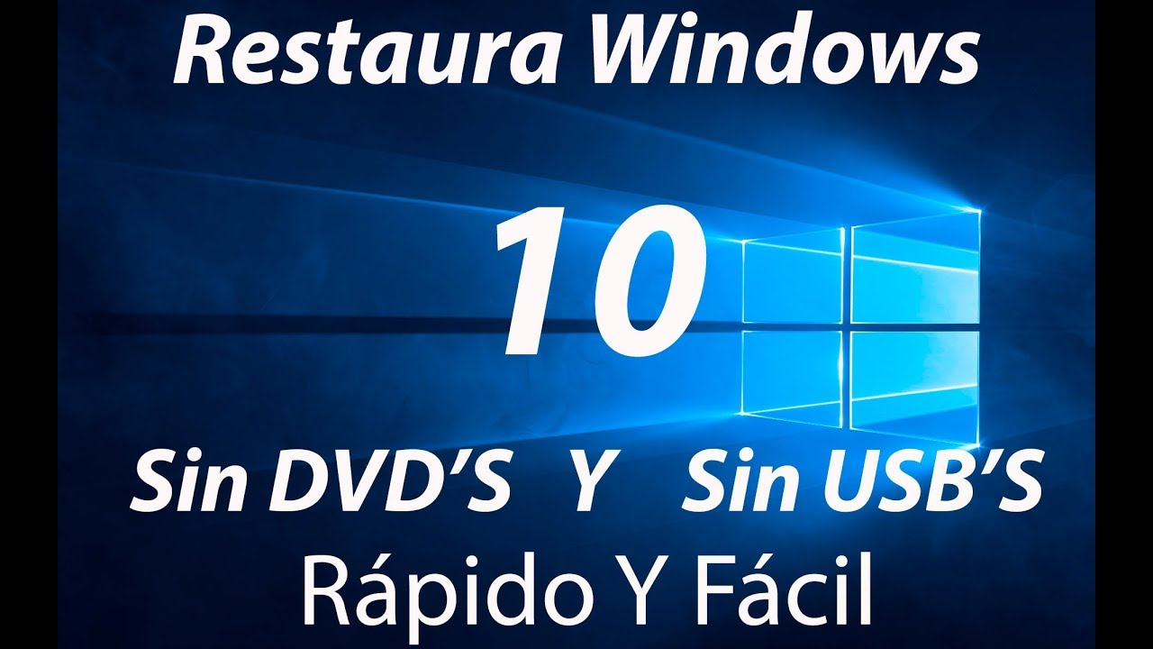 como restaurar windows 10 sin perder archivos