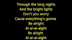 Justin Bieber- Be Alright Acoustic Lyrics HD