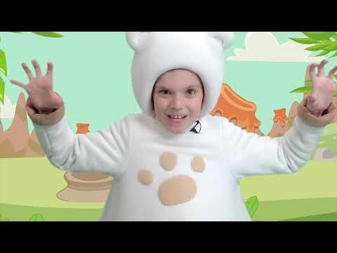 10 Медвежат и Динозаврик - КАРОКЕ для детей - Теремок ТВ: Популярные детские песенки из мультфильмов