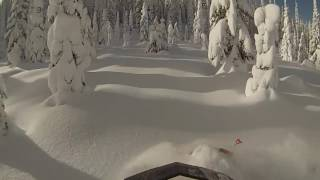 Snowmobiling the 406 A deep powder rip 2016