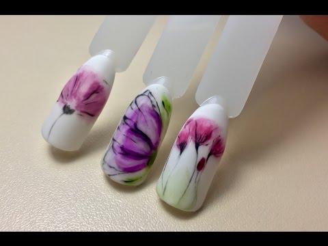 Дизайн ногтей цветы💐 маникюр, весенний дизайн ногтей 2017