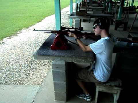 Matt shooting remington 270 at the honey island shooting for Honey island shooting range