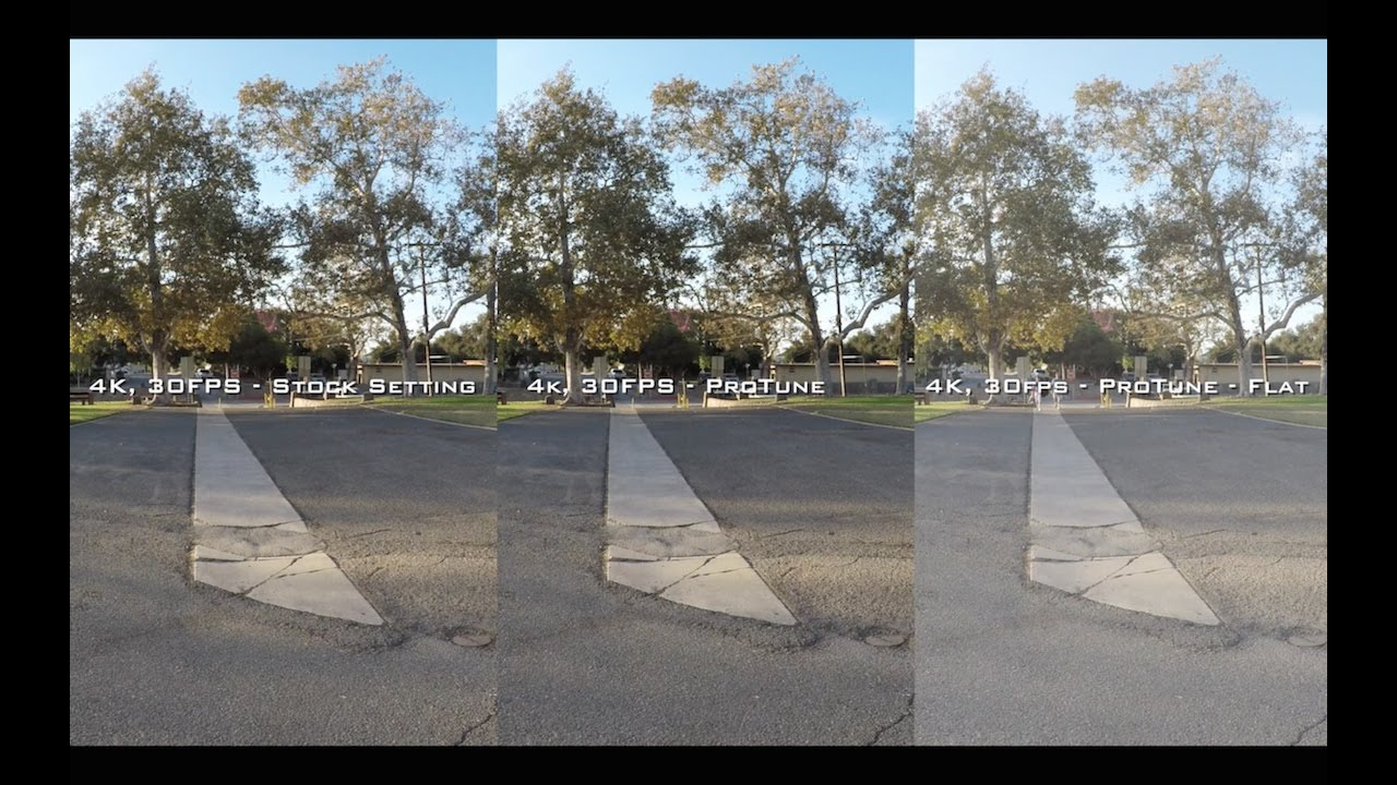 GoPro Hero 5 Black Video Test Settings Comparison