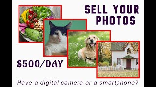 Sell your Photos & Make online passive income! take photos and sell