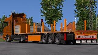 [1.32] Euro Truck Simulator 2 | Additional Tuning For Your Platform Trailer V1.1 | Mods