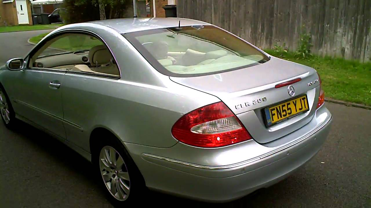 2005 mercedes clk200 kompressor elegance coupe auto youtube. Black Bedroom Furniture Sets. Home Design Ideas