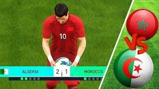 الديربي المغاربي في كأس إفريقيا مباراة أسطورية ضد الجزائر   PES 2018 Be A Legend