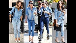 All stylish girls should know how to wear denim on denim