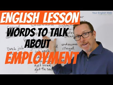 English lesson- Words to talk about EMPLOYMENT