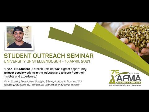 STUDENT OUTREACH SEMINAR | University of Stellenbosch | 15 April 2021