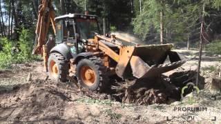 Корчевание пней трактором(Корчевание пней трактором необходимо при расчистке участка под строительство. При удалении деревьев на..., 2015-11-10T18:46:54.000Z)