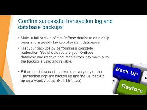 OnBase System Administrator's Guide to Success - Administration Tasks for OnBase Admins
