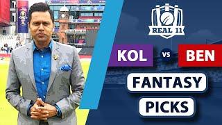 Expecting a HUGE KOHLI innings against KOLKATA   Real11 Fantasy Picks   Kolkata vs Bengaluru