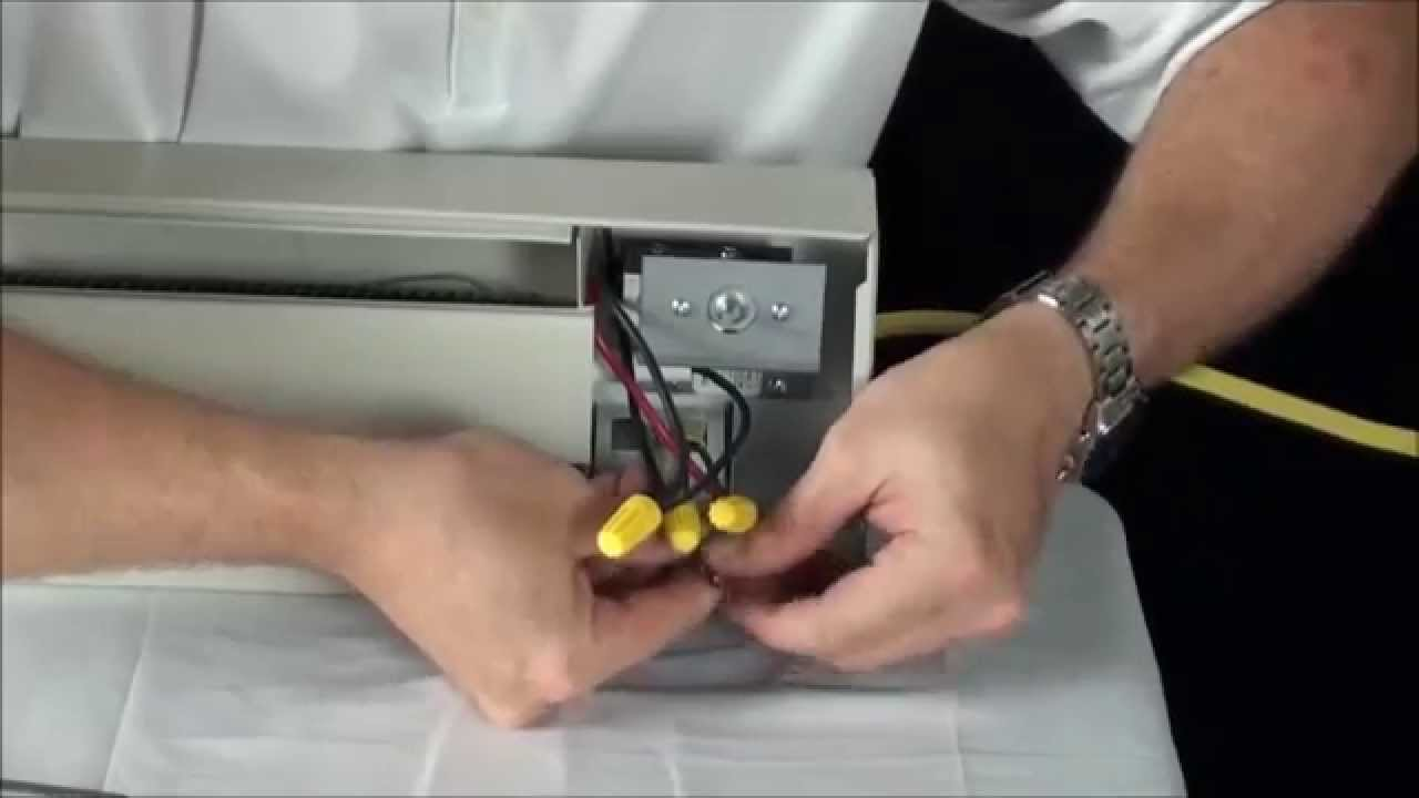 Markel 2900 Series Single Pole Electric Baseboard Heater Thermostat Installation  YouTube