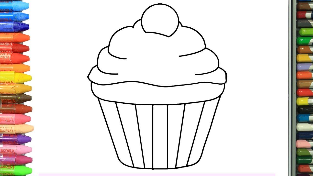 Cupcake Nasil Cizilir Cocuklar Icin Eglenceli Boyama Cizelim