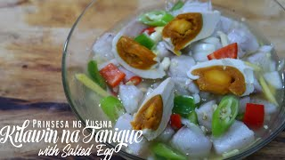 Kilawin na Tanigue with Salted Egg