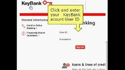 Key Bank Login Instructions