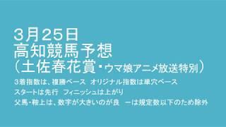 平成30年3月25日高知競馬予想(土佐春花賞・ウマ娘アニメ放送特別) thumbnail