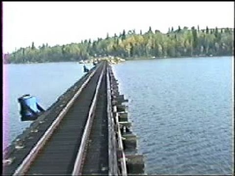 Floating railroad bridges on the Algoma Central Railway. 9/22/1994