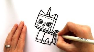 How to Draw a Cartoon Unikitty from The Lego Movie - zooshii Style