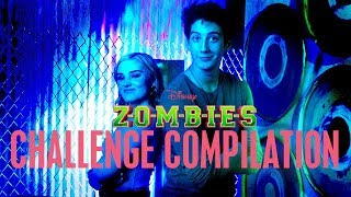 Meg and Milo Challenges! | ZOMBIES | Disney Channel