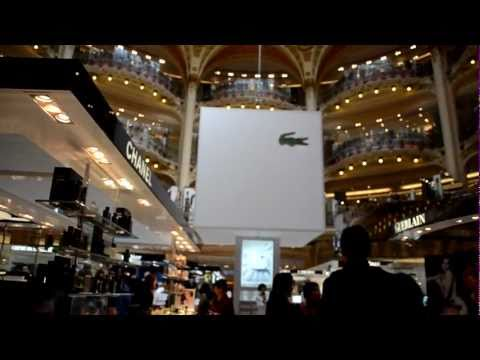 Shopping in Paris, les Galeries Lafayette