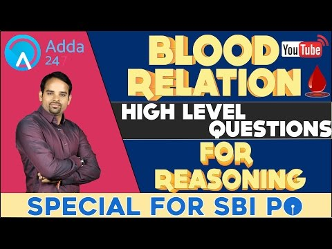 BLOOD RELATION - HIGH LEVEL QUESTIONS FOR BANKING AND SSC