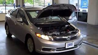 Gambar cover 2012 Honda Civic EXL Navi Sedan  Video Demo from Voss Honda.