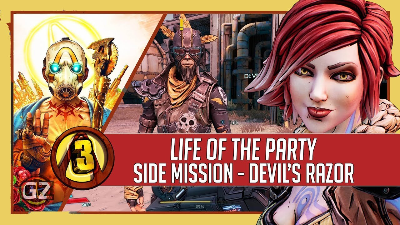 Borderlands 3 Life Of The Party Side Mission Devil S Razor Youtube Mordecai wants your help bring some flowers to a girl's birthday party. borderlands 3 life of the party side mission devil s razor