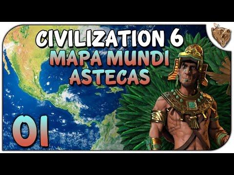 """Civilization 6 Astecas TSL #01 """"A Terra será nossa!"""" - Vamos Jogar Gameplay Português PT-BR"""
