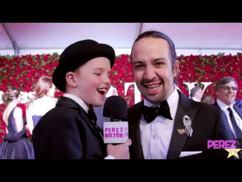 Lin-Manuel Miranda Raps with Iain Loves Theatre at the Tony Awards! (Red Carpet Exclusive!)