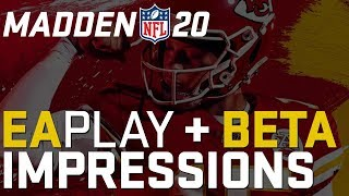 RPM, Pass Rush, User v. CPU and MORE! | Madden 20 Beta Gameplay Impressions