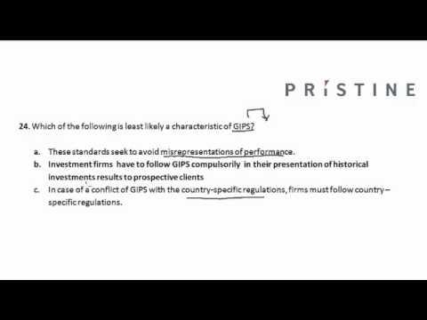 CFA Tutorial: Ethics (Characteristics of GIPS)
