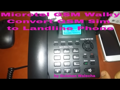 Microtel GSM Walky Phone (GSM FWP) Unboxing and Review