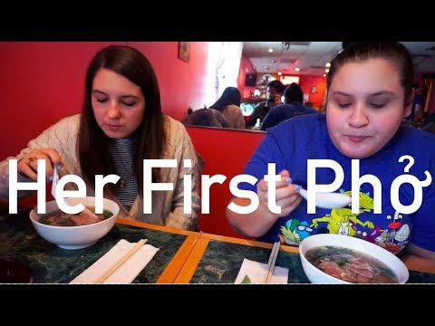 American Eats Pho For the First Time (Ft. My Sister)   Audrey Nguyen