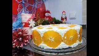 Крутой новогодний торт с апельсинами!!