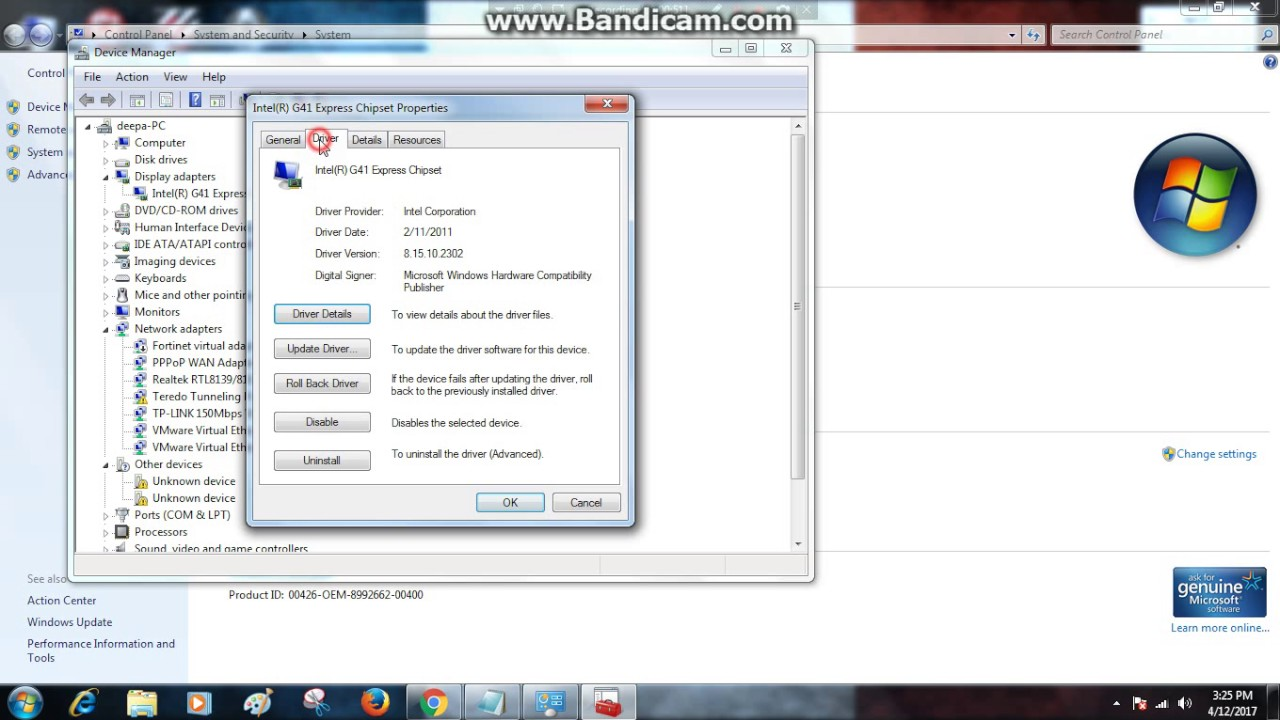 windows 7 how to update graphics driver