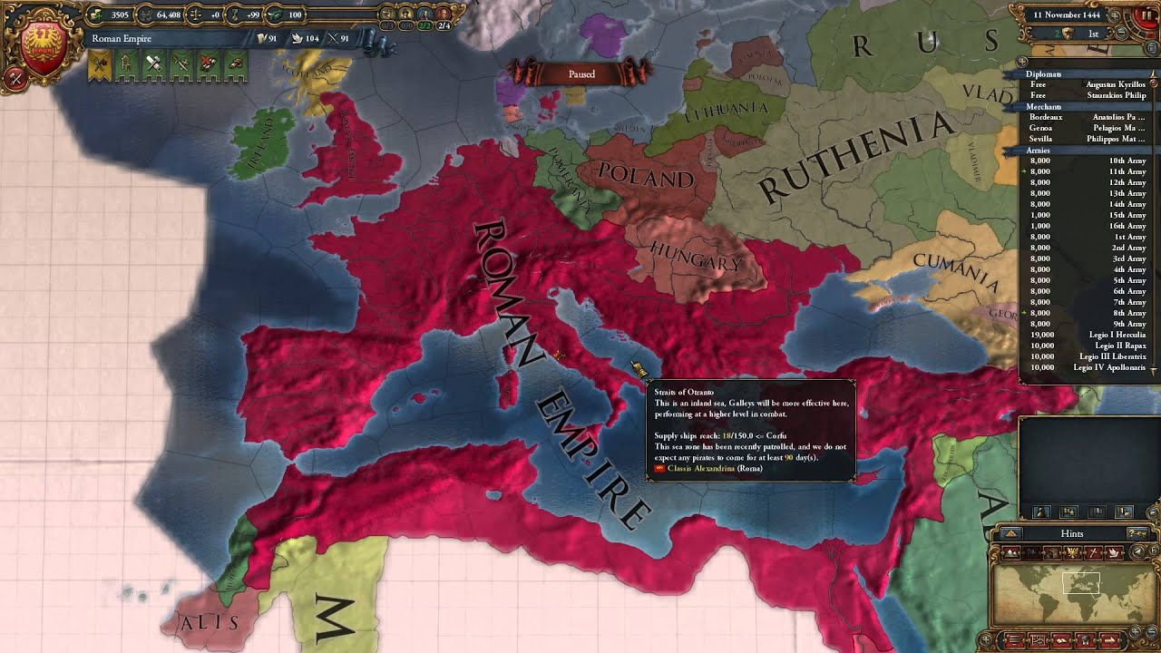 Europa Universalis IV - Roman Empire Crusader Kings II Port ...