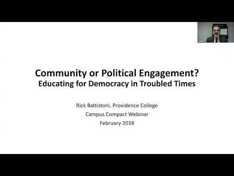 WEBINAR: Community or Political Engagement? Educating for Democracy in Troubled Times