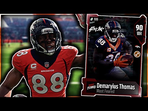 *90 OVERALL MOST FEARED DEMARYIUS THOMAS* 3 TOUCHDOWN DEBUT! x Madden 18 Ultimate Team Gameplay