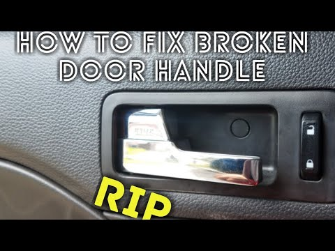How To Fix Broken Door Handle Youtube