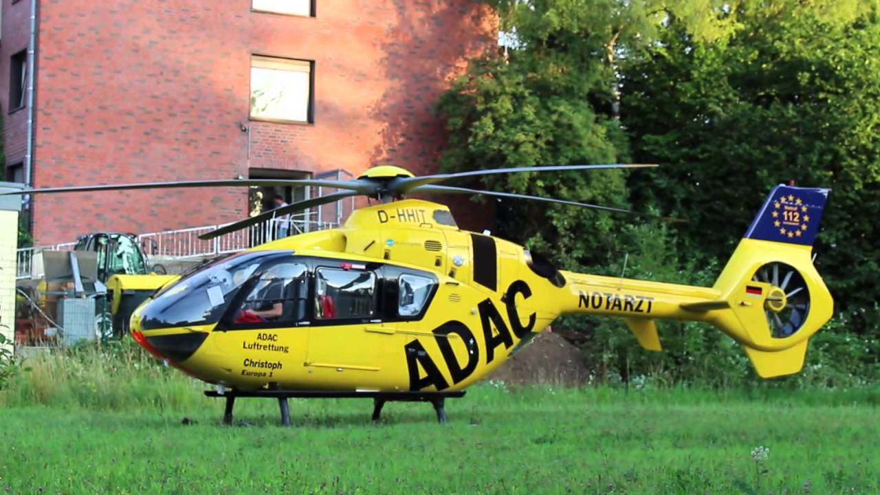 Crazy ADAC Helicopter Taking off from Confined Area: EC ...