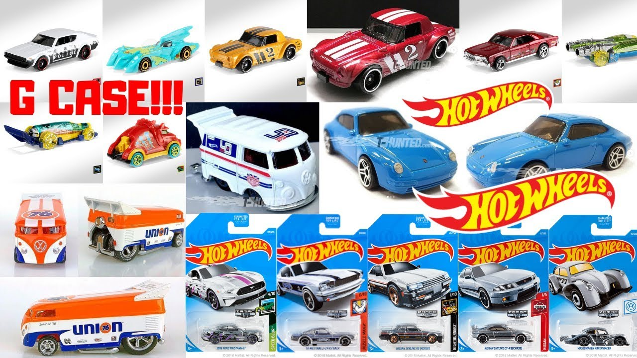 hot wheels 2019 g case cars f case lineup zamacs hot. Black Bedroom Furniture Sets. Home Design Ideas