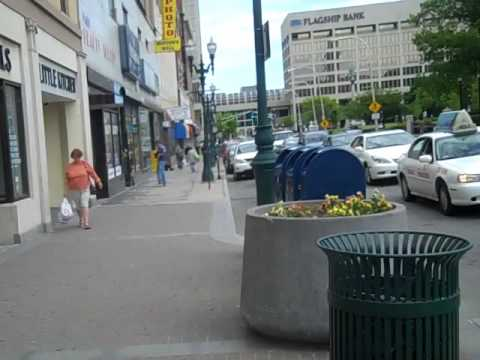 Walking Downtown Worcester MA