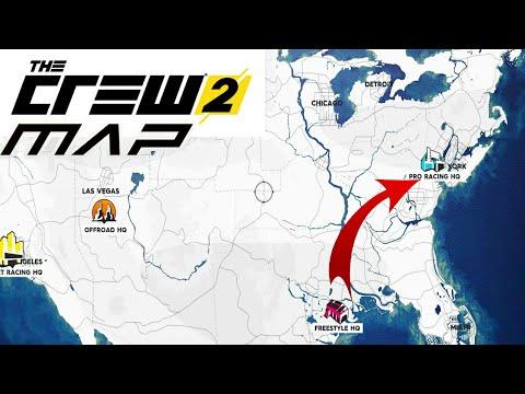 Mapa The Crew 2.The Crew 2 Map The Crew 2 Mapa Sub English Audio Espanol