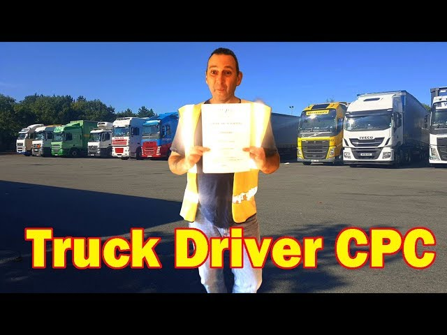 Truck Driver CPC Course Certificate of Professional Competence (What is your opinion?)
