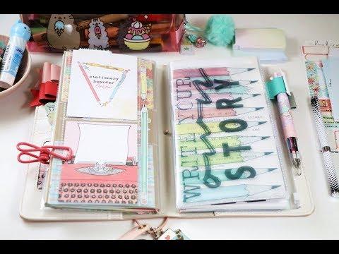 DIY Plastic Pocket Folder for Standard size Traveler's Notebook.