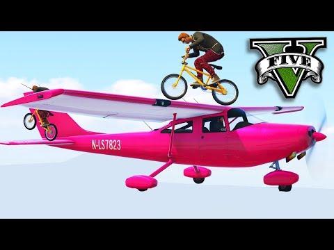 GTA V Online: AVIÕES vs BMX - FIZ UM DOUBLE KILL LINDO!!!